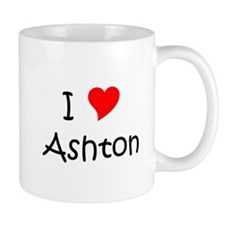 Cute I heart ashton Mug
