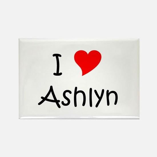 Cute Ashlyn Rectangle Magnet