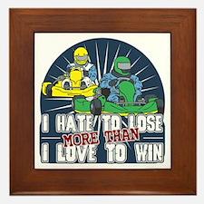 Hate to Lose Go Kart Framed Tile