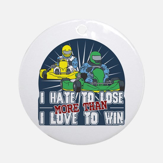 Hate to Lose Go Kart Ornament (Round)