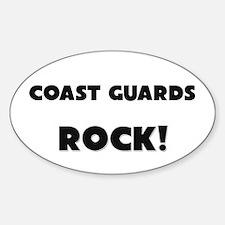 Coast Guards ROCK Oval Decal
