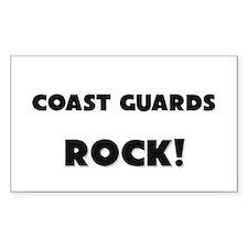 Coast Guards ROCK Rectangle Decal