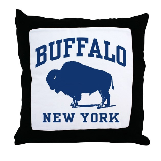 Buffalo New York Throw Pillow By Spiffetees