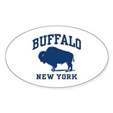 Buffalo New York Oval Bumper Stickers