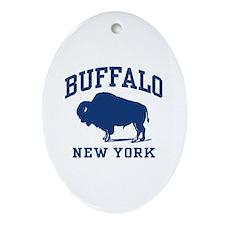 Buffalo New York Oval Ornament