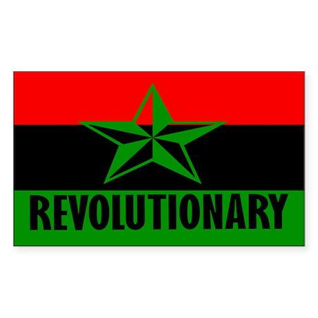 Marcus Garvey Revolutionary Rectangle Sticker