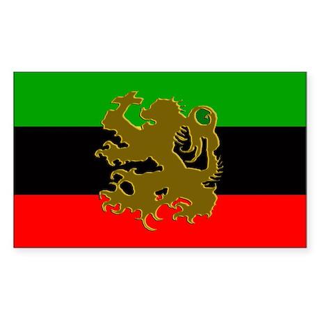 Marcus Garvey Lion of Judah Rectangle Sticker