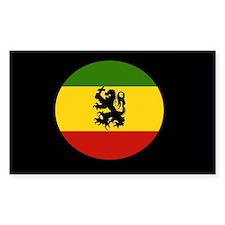 Rasta Gear Jah Rastafari Rectangle Decal
