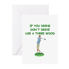 golf humor gifts and t-shirts Greeting Cards (Pk o