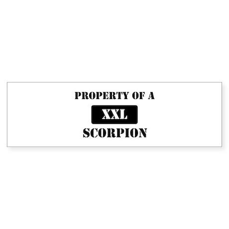 Property of a Scorpion Bumper Sticker