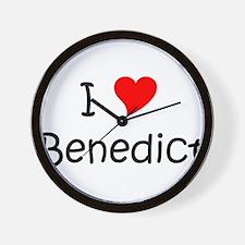 Cute I heart benedict Wall Clock