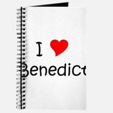 Cute I heart benedict Journal