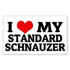 I Love My Standard Schnauzer Rectangle Decal