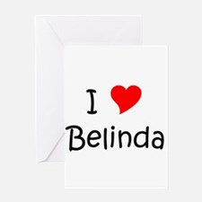 Cute Belinda Greeting Card