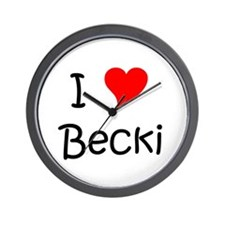 I love becky Wall Clock