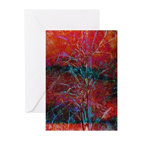 A Forest, Abstract Greeting Cards (Pk of 10)