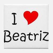 Funny Beatriz Tile Coaster