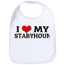 I Love My Stabyhoun Bib