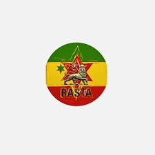 One Love Rasta Colours Mini Button