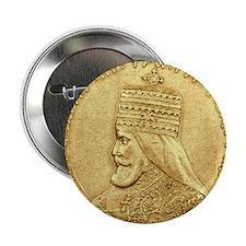 Jah Rastafari Lion of Judah Button