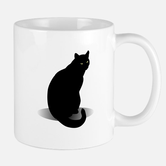 Basic Black Cat Mug