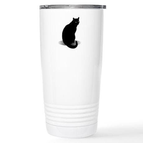 Basic Black Cat Stainless Steel Travel Mug