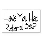 Referral Sex Rectangle Sticker