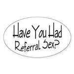 Referral Sex Oval Sticker