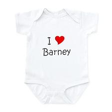 Cute I love barney Infant Bodysuit