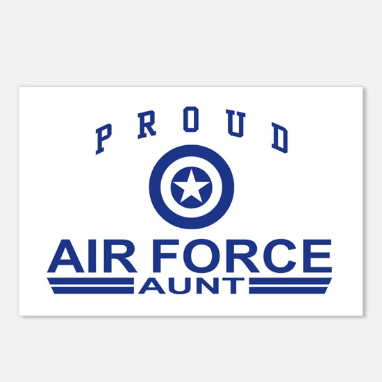 Proud Air Force Aunt Postcards (Package of 8)
