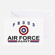 Proud Air Force Aunt Greeting Cards (Pk of 10)