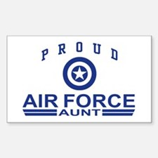Proud Air Force Aunt Rectangle Decal