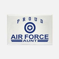 Proud Air Force Aunt Rectangle Magnet