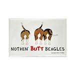 Nothin' Butt Beagles Rectangle Magnet (100 pack)