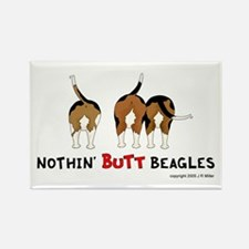 Nothin' Butt Beagles Rectangle Magnet