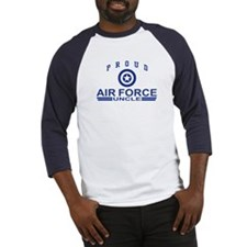 Proud Air Force Uncle Baseball Jersey