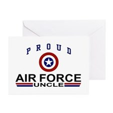 Proud Air Force Uncle Greeting Cards (Pk of 10)