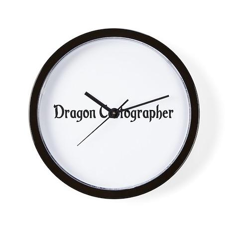 Dragon Cartographer Wall Clock