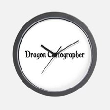Dragon Cartographer Wall Clock