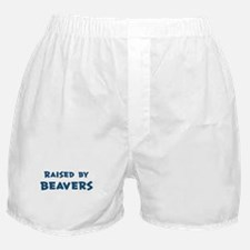 Raised by Beavers Boxer Shorts