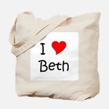 Unique I love beth Tote Bag