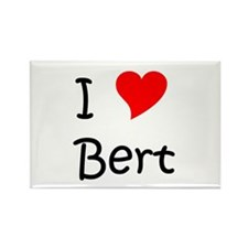 Cute I love bert Rectangle Magnet