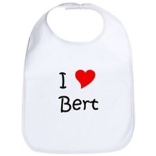 Cute I love bert Bib