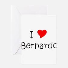 Cute I love bernardo Greeting Card
