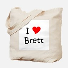 Cute I heart brett Tote Bag