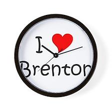 Cute I love brenton Wall Clock