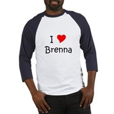 Cute I love brenna Baseball Jersey