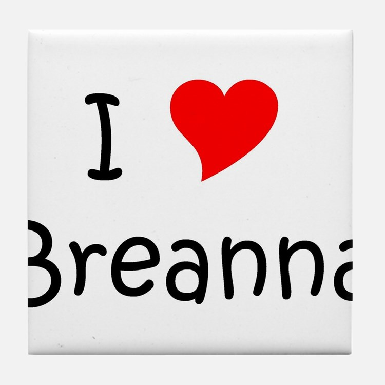 Cute Breanna Tile Coaster