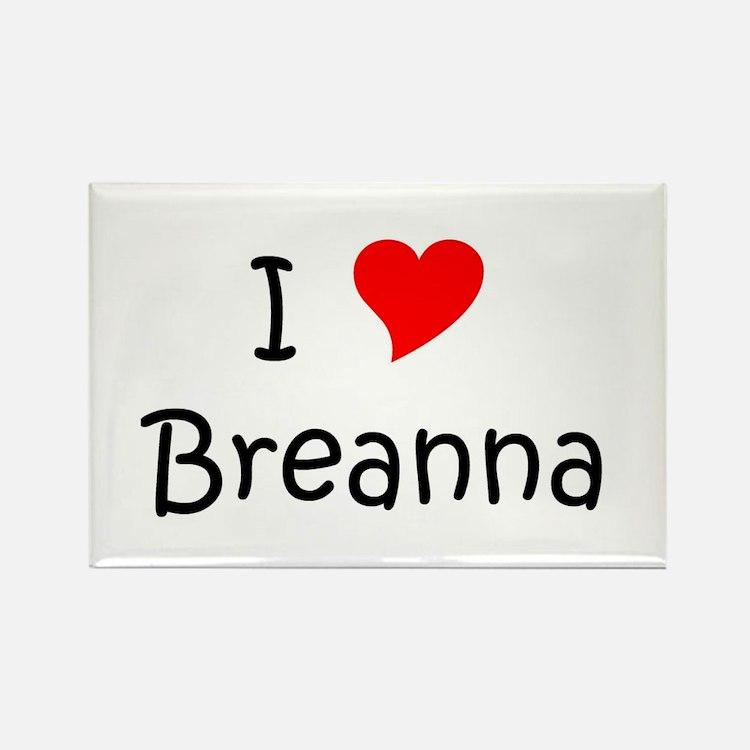 Cute Breanna Rectangle Magnet