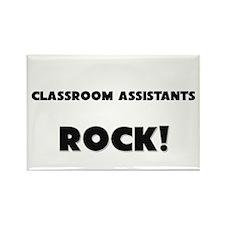 Classroom Assistants ROCK Rectangle Magnet